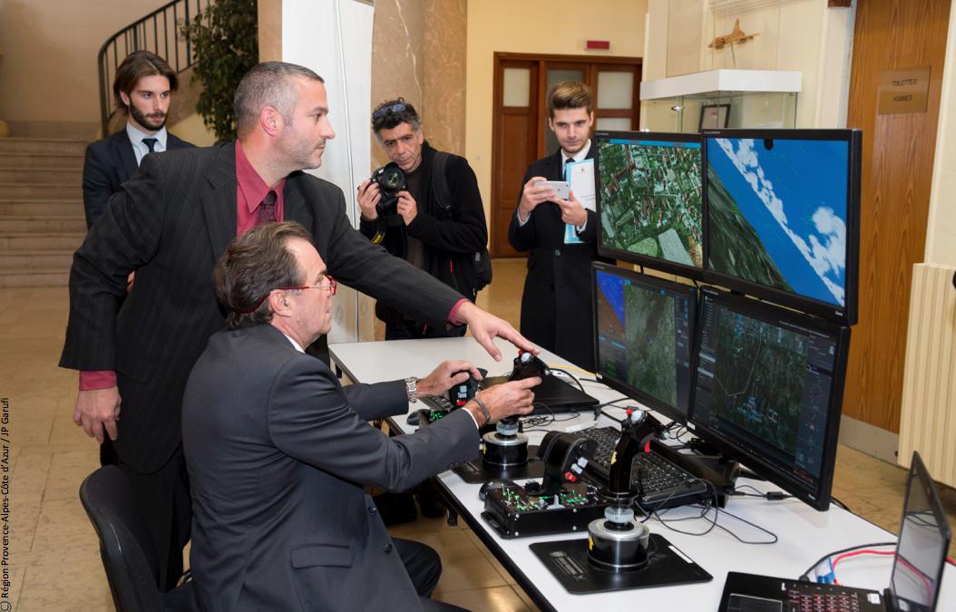 SAFE et DCI unis autour du simulateur drone