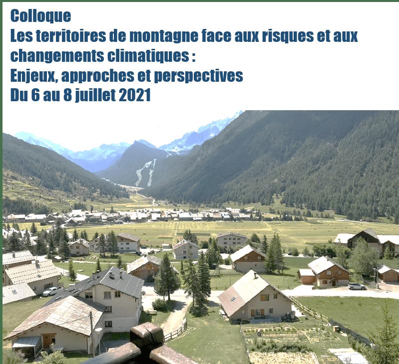 """Colloque """"Les territoires de montagne face aux risques et aux changements climatiques : Enjeux, approches et perspectives"""""""