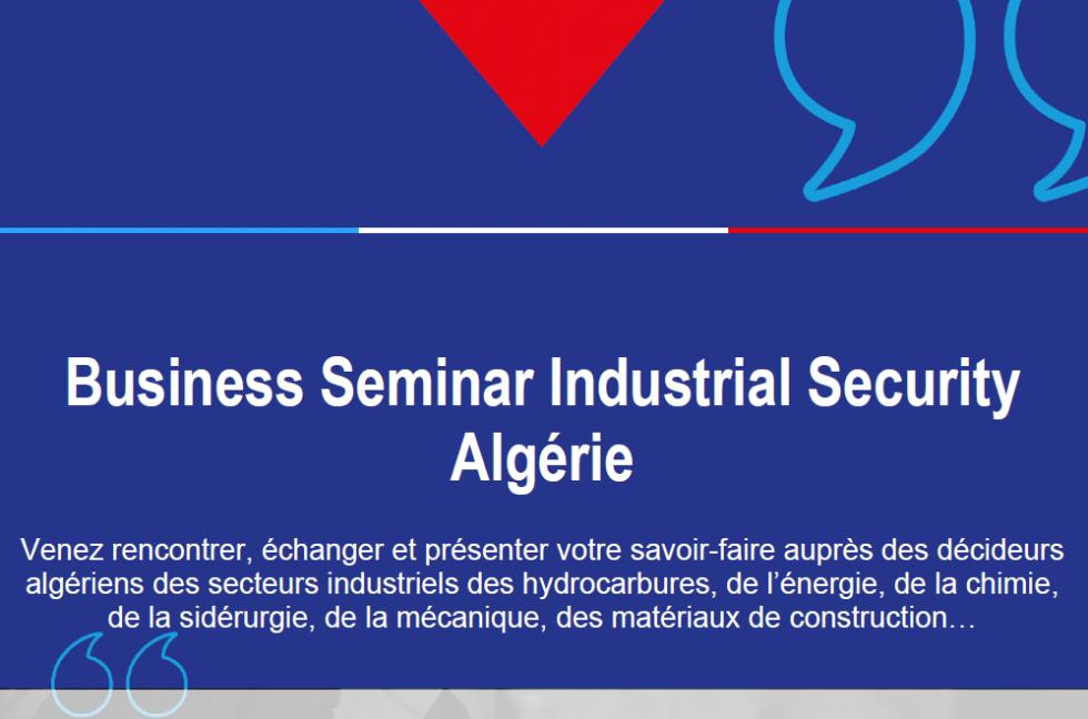 Business Seminar Industrial Security Algérie