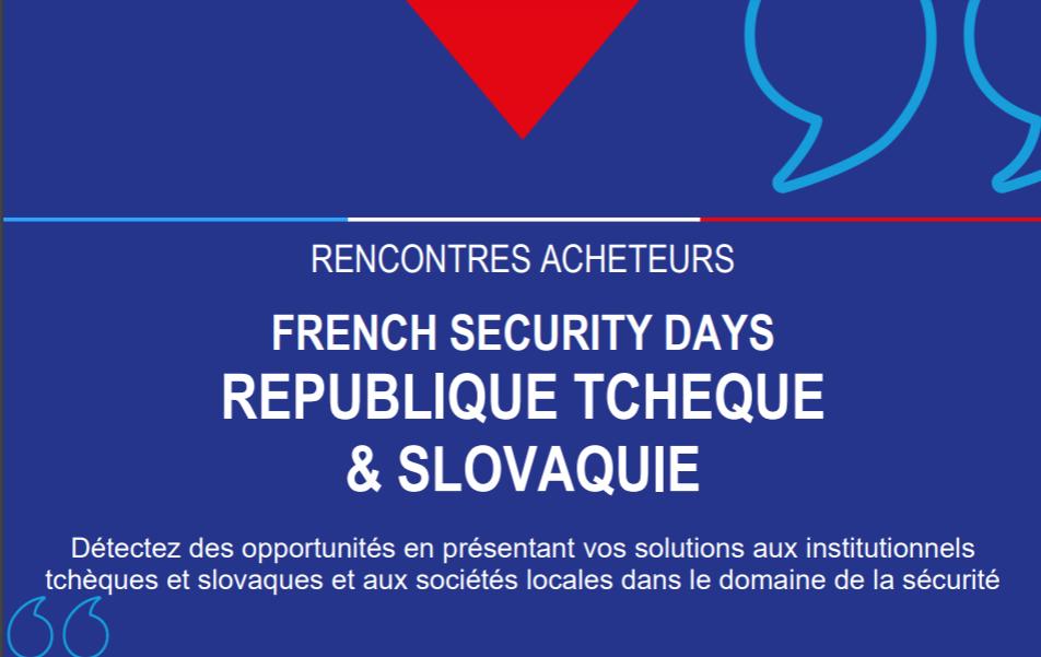 FRENCH SECURITY DAYS REPUBLIQUE TCHEQUE & SLOVAQUIE